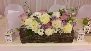 agátové kvetináče na hl. stôl